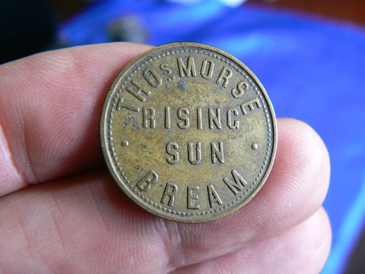 RISING SUN BREAM TAVERN CHECK PUB TOKEN GLOUCESTERSHIRE GL156JF