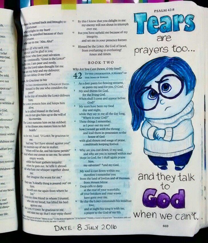 Bev Knaup bible journaling Psalm 42                                                                                                                                                                                 More