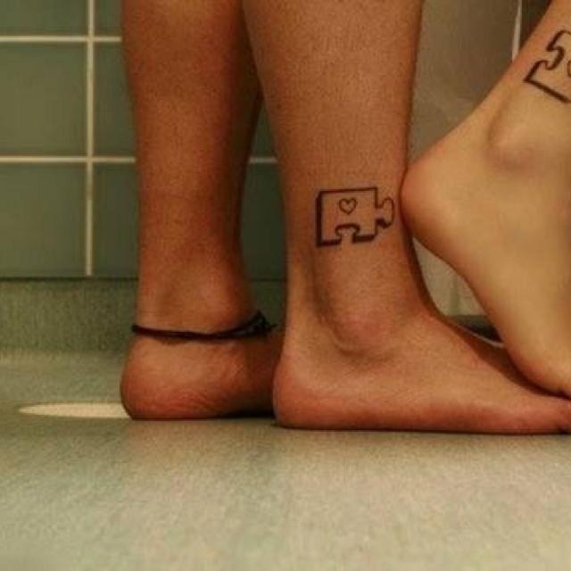 Couple tattoosCute Couples Tattoo, Tattoo Ideas, Tattoo Inspiration, Matching Tattoo, Puzzle Pieces, Couple Tattoos, Sisters Tattoo, Puzzles Piece, Ink