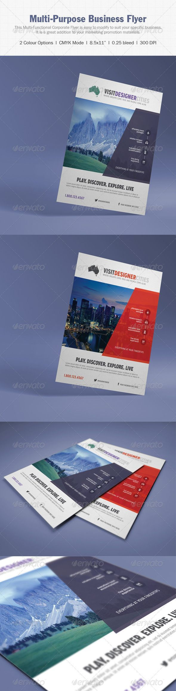 Multi-Purpose Corporate Flyer - Corporate Business Cards