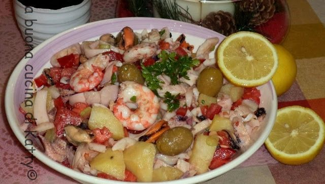 La buona cucina di Katty: Insalata di mare con verdure - Seafood salad with vegetables