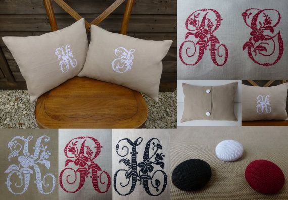 Shabby Chic PERSONALISED EMBROIDERED Vintage French by BobbinBox, £29.00