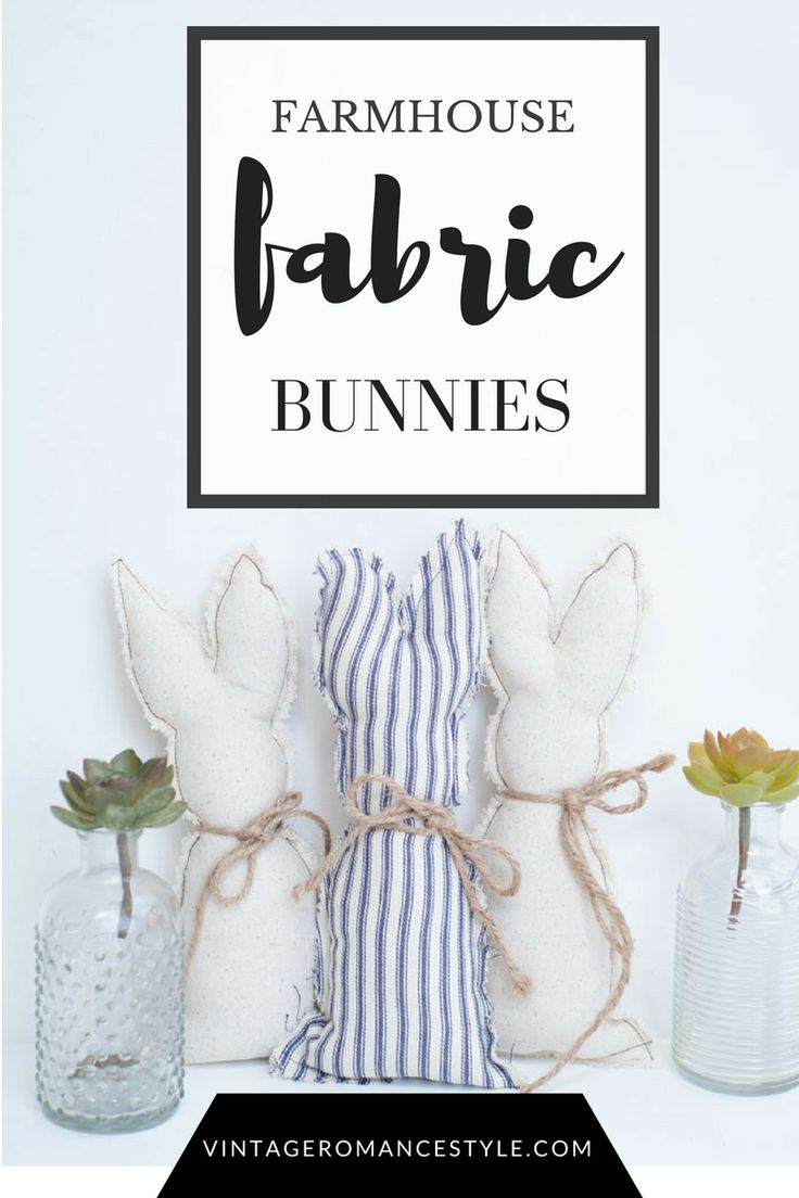 Drop cloth and ticking stripe farmhouse Bunny Silhouettes! SO easy to make and perfect for spring!