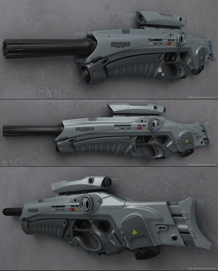Another Peterku rifle concept, looks a little like some of the Mass Effect rifles, except the forward handgrip is different than naything they've done.