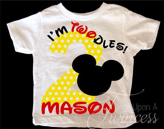 I'm Twodles Birthday Shirt Mickey Mouse by OnceUponATwincess