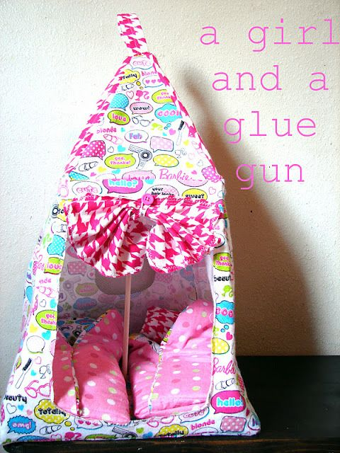 barbie tent - A girl and a glue gun