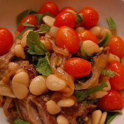 Lamb, Mint and Butterbean Stew. I made this sometime last year and remember it being delicious. Must try it again sometime!