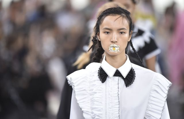 For spring, designers continued to reference Victorian era fashion but done this season with a more modern hand.