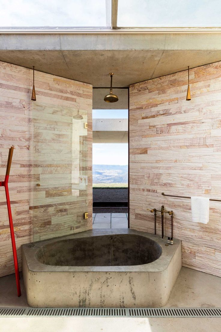 bathroom / Invisible House by Peter Stutchbury   Yellowtrace