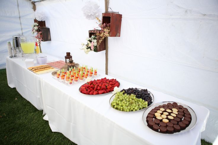 Food Table Display and Decor   Buffet ideas   Pinterest
