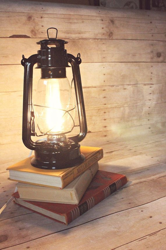 Lantern Light, Lantern Night Light, Lantern Lamp, Electric Kerosene Lantern, Electric Lantern, Table Lamp, Black Table Lamp, Black Lantern