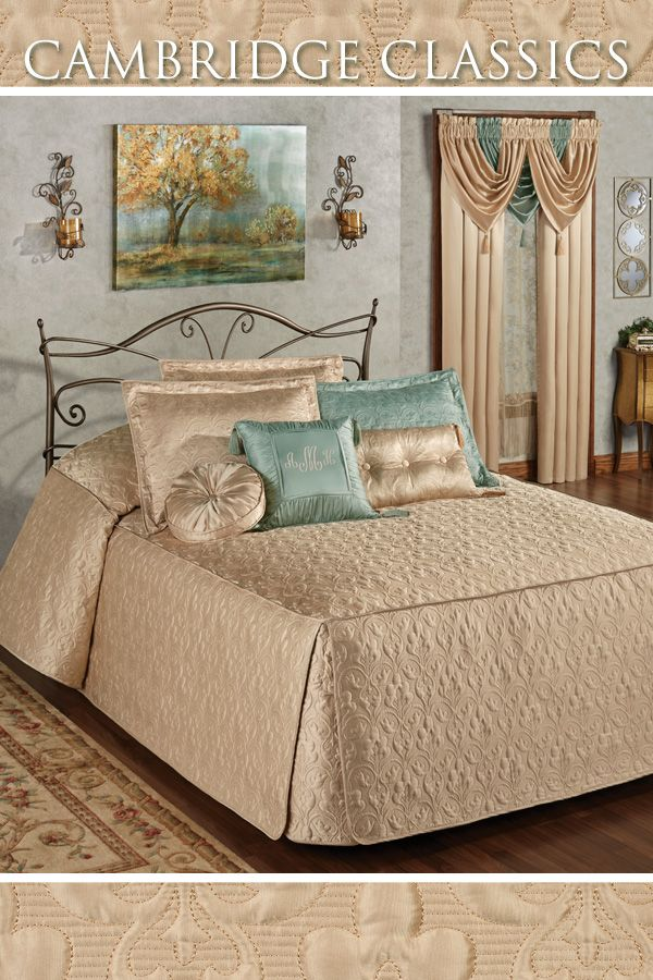 Cambridge Classics Wheat Fitted Quilted Oversized Bedspread