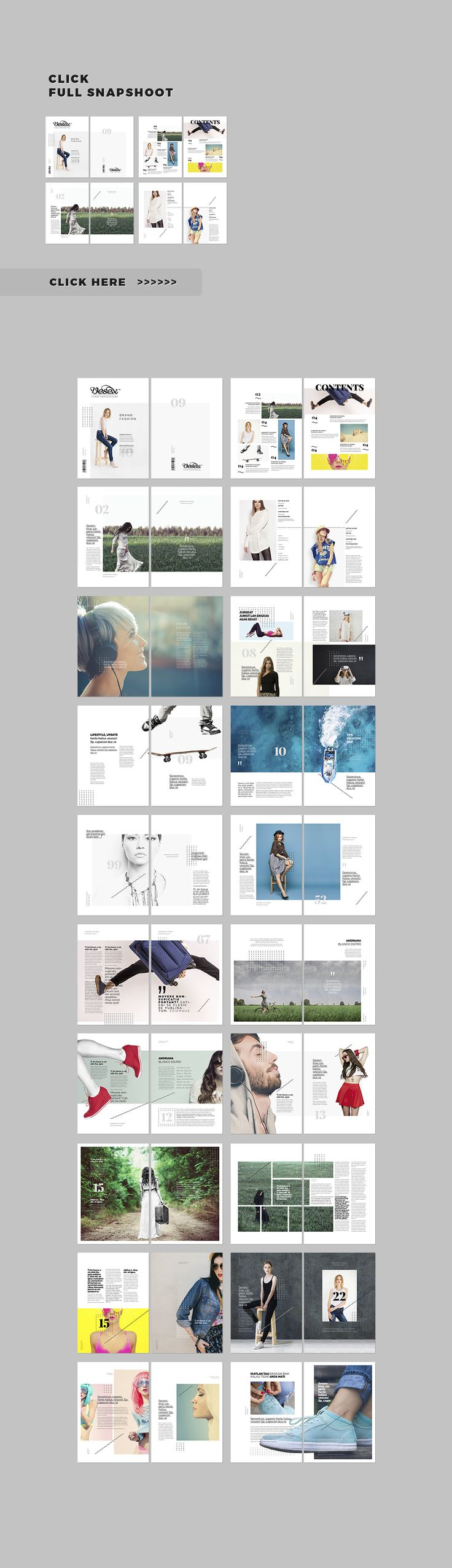 a4 size,	clean cover white,	clean fashion magazine,	clean layout,	clean magazine, clothing,	contemporary magazine, creative,	designer,	dresses,	editorial, fashion brochure,	fashion catalogue, fashion collection,	fashion design, fashion lookbook,	fashion magazine,	flat design,	fresh,	indesign,	letter size, minimal layout,	modern,	simple,	simple fashion magazine,	simple layout,	simple magazine,	swiss design,	urban fashion
