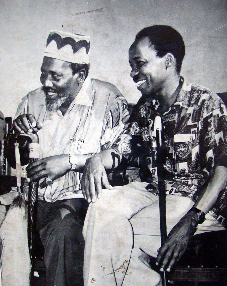 Two African Baobabs: Mzee Jomo Kenyatta of Kenya and Mwalimu Julius Nyerere of Tanzania.