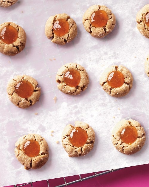 Almond And Apricot Thumbprint Cookies Recipe