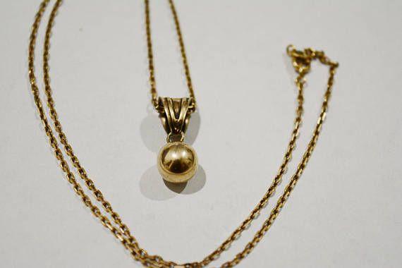 Vintage Gold plated necklace Vintage necklace 925 sterling