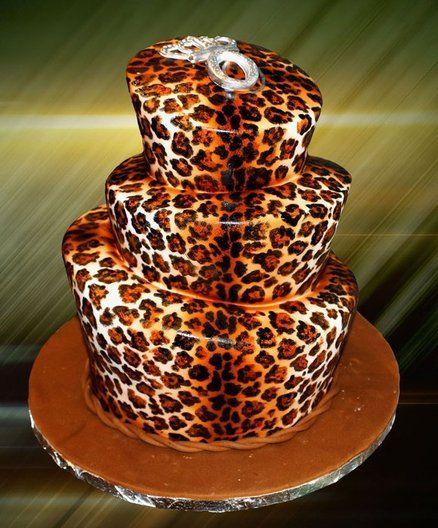 Leopard print cake ~ wonderfully hand painted!