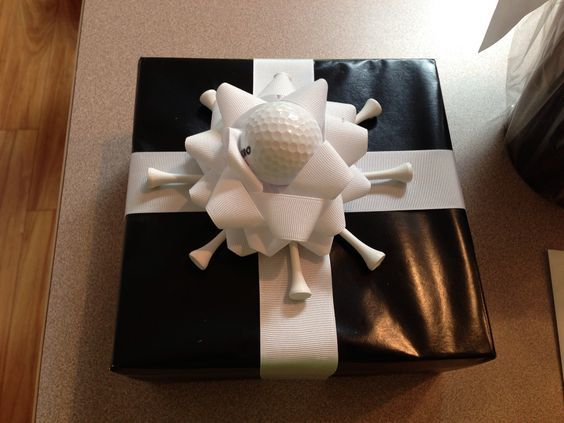 Such a cool gift wrap for golfers! Check out more golf ideas, tips, and quotes at #lorisgolfshoppe