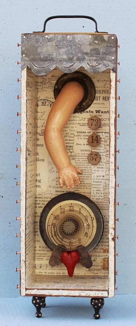 Hey, I found this really awesome Etsy listing at https://www.etsy.com/listing/264566055/assemblage-art-shrine-shadow-box-found