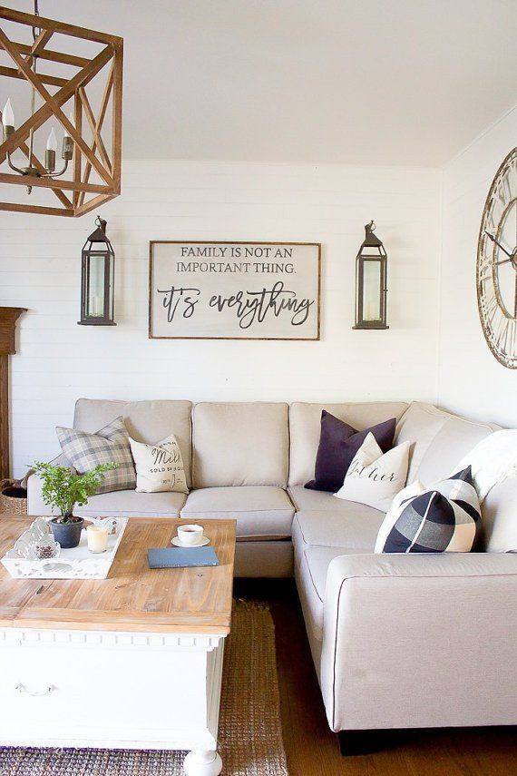 This gorgeous sign has been featured on the lovely blog Making it in the Mountains. Which is why it looks so familiar. It's a great statement piece for a living