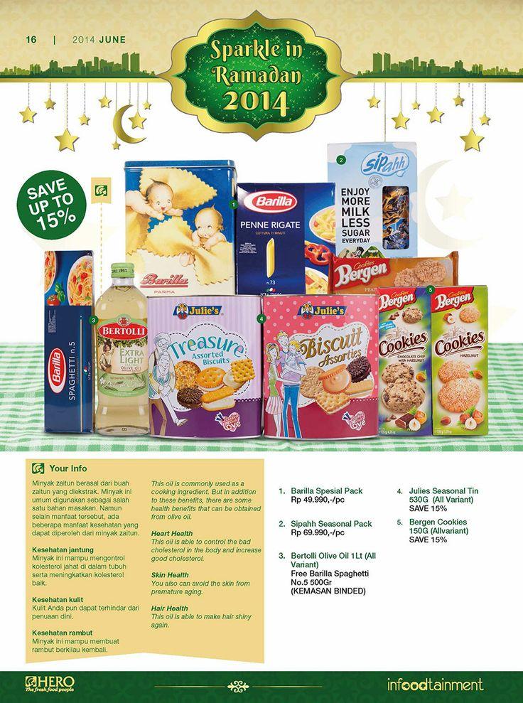 Menjelang bulan Ramadhan, Ayo Fresh People belanja berbagai Biscuit serta Cookies berkualitas hanya di Hero Supermarket dan dapatkan potongan harga hingga 15%.