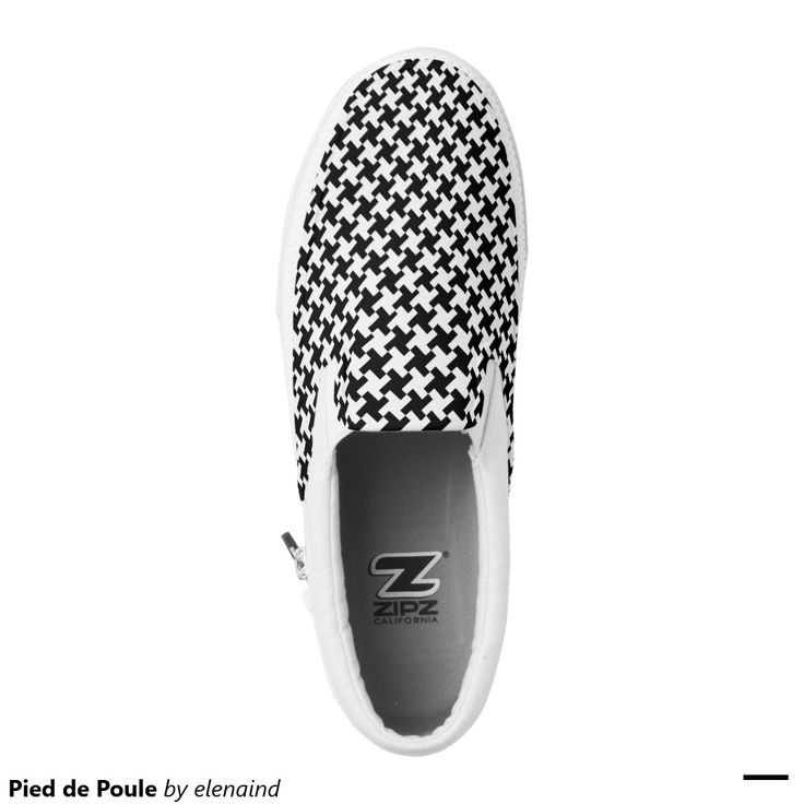 Pied de Poule Printed Shoes #Zazzle