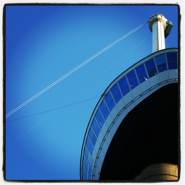 This was my very first Instagram photo, taken of one of the landmarks in Rotterdam #euromast