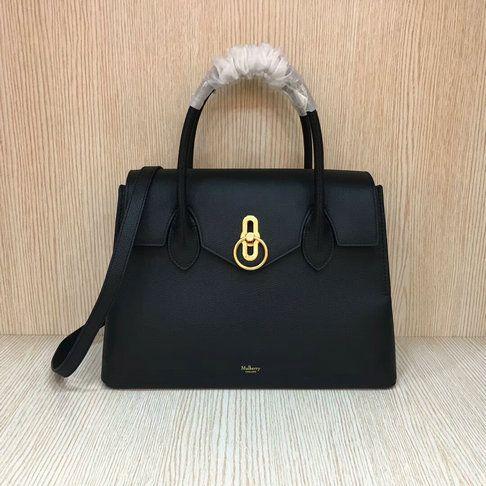 ceaa704e25b4 2018 New Mulberry Seaton Bag Black Small Classic Grain Leather ...