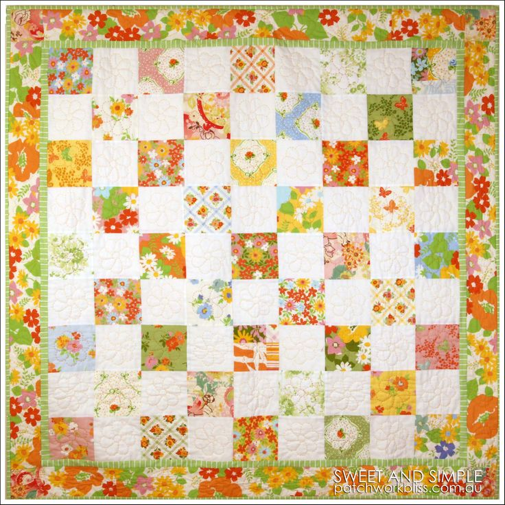 Sweet and Simple Quilt.  So easy to makeand is the perfect quilt for a beginer! It's http://www.patchworkbliss.com/au/shop/