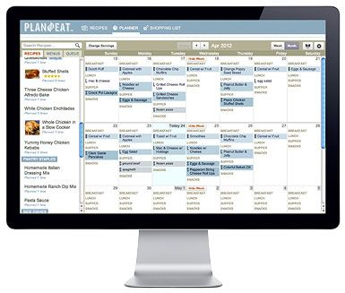 Meal Planner website that  also makes the grocery list out of your weekly menu. Will look into this later