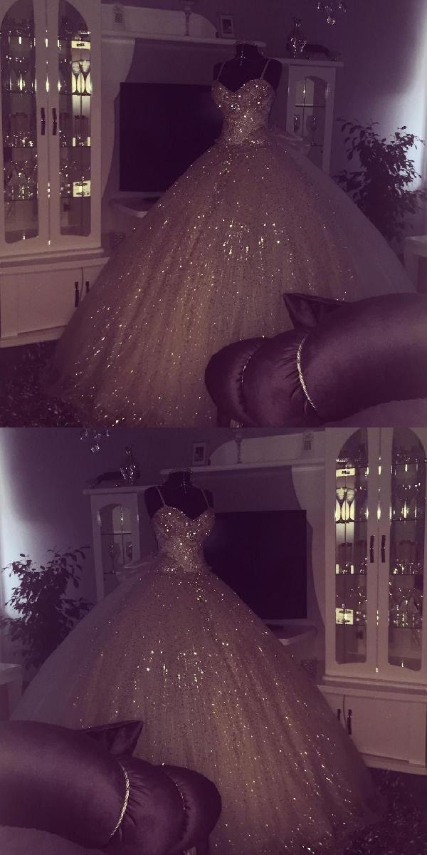 Heißer Verkaufs-anziehender Ballkleid-Hochzeits-Kleid-Ballkleid-Hochzeits-Kleider Bling Bling Art