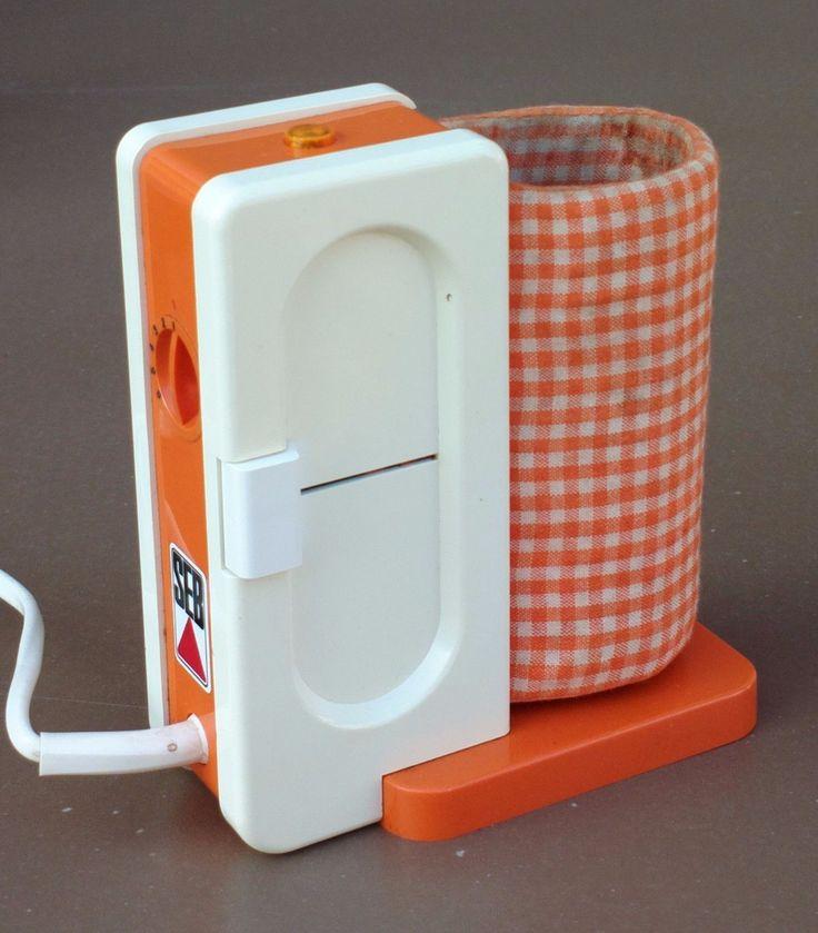 Chauffe biberon vintage SEB TEFAL orange ancien FONCTIONNE former bottle warmer | eBay