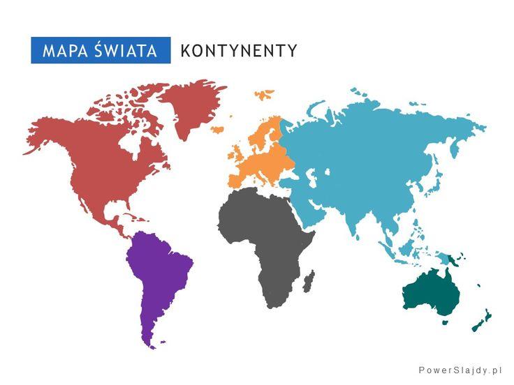 Edytowalna mapa świata z podziałem na kontynenty http://www.powerslajdy.pl/pl/p/Mapa-Kontynenty/96