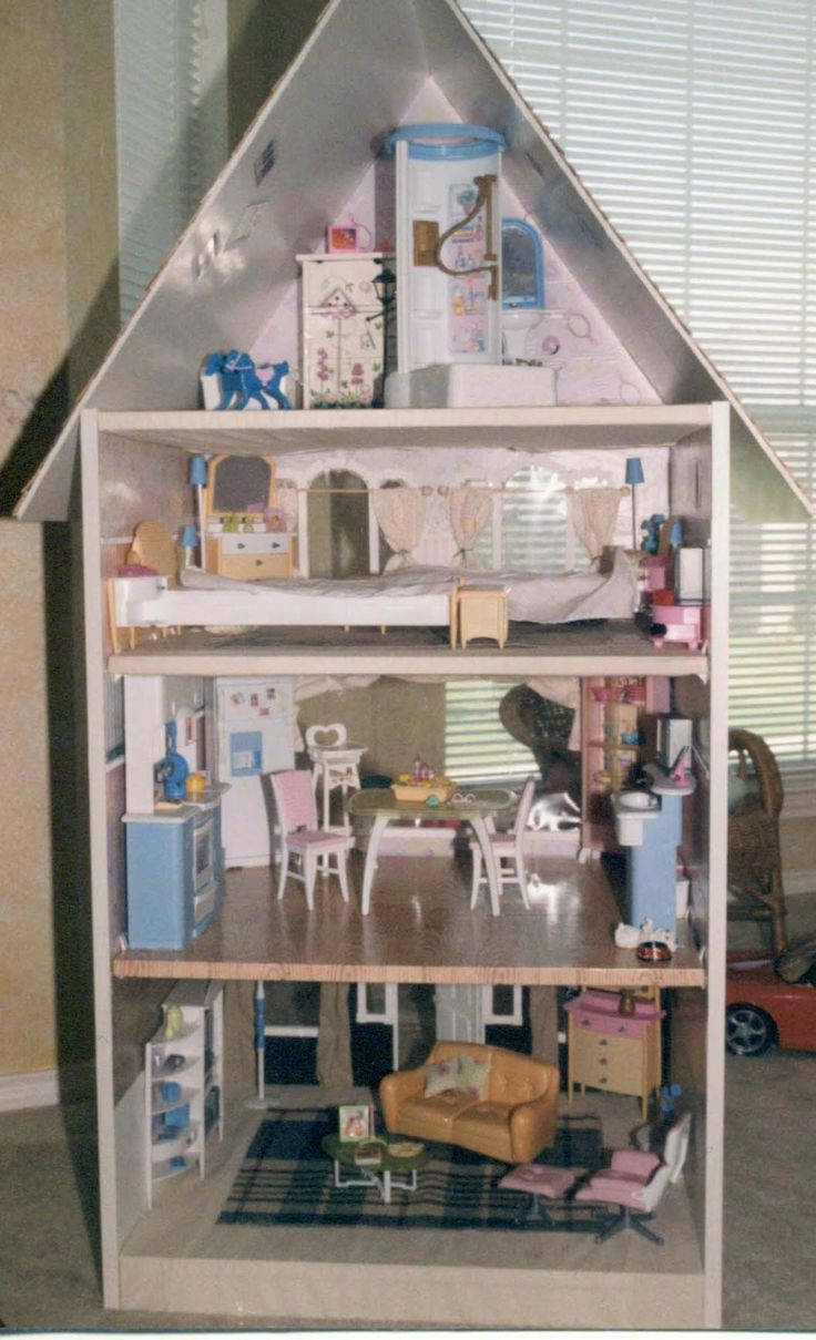 10 awesome barbie doll house models - Barbie Doll House Made Out Of A Book Shelf