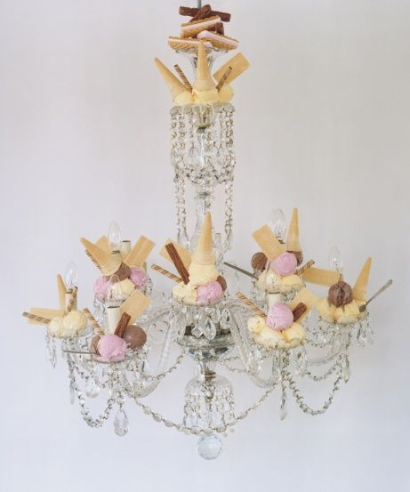 Dessert Chandelier ~ just have to figure out how to get it to be stable and free-standing
