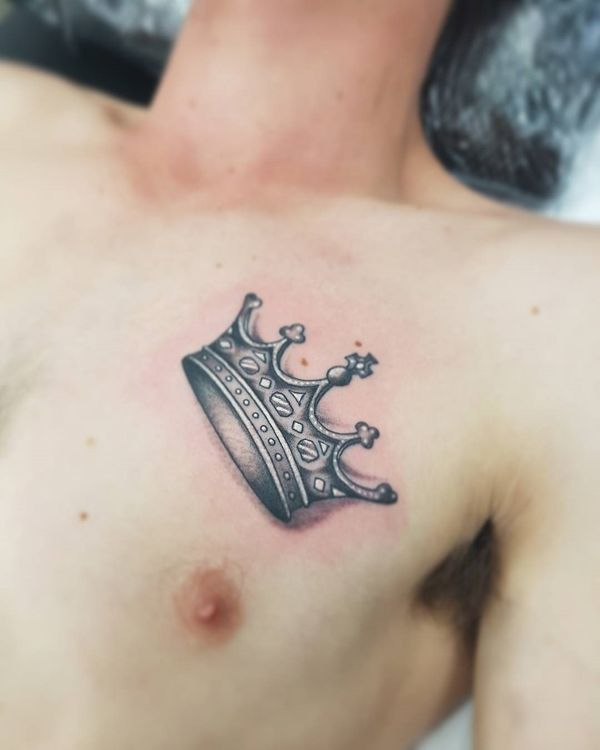 50 Crown Tattoo Ideas For Men And Women July 2020 Crown Tattoo Design Crown Tattoo Small Chest Tattoos