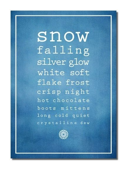 What do you love about winter?