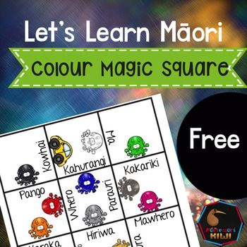 Mori Colours Magic Square Puzzle FREEBIE. This would be a fun game to revise colours with students!Magic Square Puzzles make it quick and easy for teachers to provide hands on activities that meet the Te Reo needs of all students! These addicting puzzles will have your students match pictures with the corresponding words.Simply PRINT, cut up into individual squares, place in an envelope and give to your students!click here for all of  my Maori resources