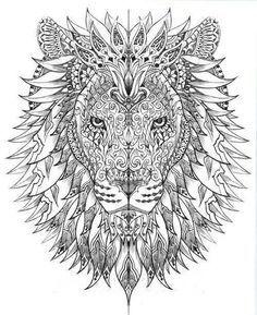 Lion tribal art                                                                                                                                                      More