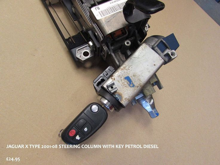 Jaguar X Type 2001-2008 steering column. Second hand car part in full working condition.