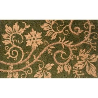 $21 @Overstock.com - Natural Coir and Rope Green Door Mat (16 x 26) - Made of natural coir with inlaid rope accents, this beautiful green and natural doormat will enrich any area of your home. Environmentally friendly and biodegradable, this durable doormat traps dirt and moisture, keeping debris from your home.  http://www.overstock.com/Home-Garden/Natural-Coir-and-Rope-Green-Door-Mat-16-x-26/7317609/product.html?CID=214117 $20.99