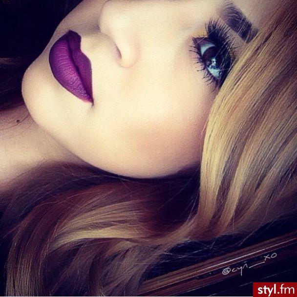 purple lipstick #motd