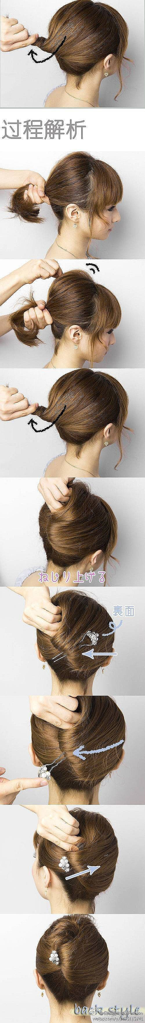 tuto coiffure cheveux court coiffure pinterest coiffures hair and short hair. Black Bedroom Furniture Sets. Home Design Ideas