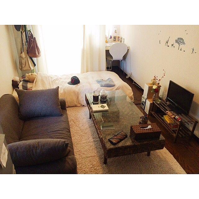 一人暮らし部屋の作り方!必要な家具・家電とレイアウト実例 | RoomClip mag | 暮らしとインテリアのwebマガジン