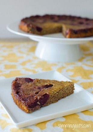 Upside Down Cherry Scan Bran Cake | Slimming Eats - Slimming World Recipes