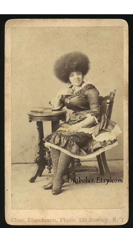 1800s Photo of a Black Woman An Afro AND the Point of her toe in the pic!! I LOVE THIS PIC ME TOO !!!