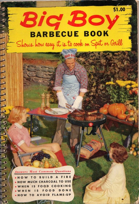 Vintage Cookbook Big Boy Barbecue Book1950's by spankyluvsvintage