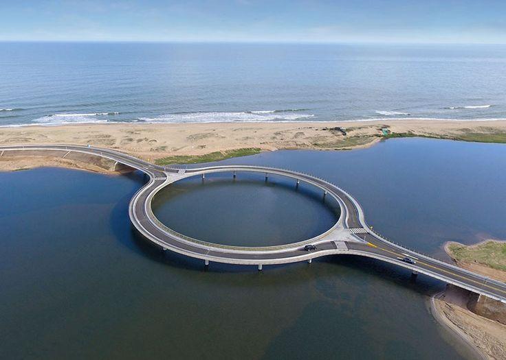 A Circular Bridge in Uruguay by Rafael Viñoly Architects