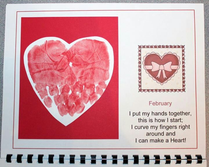 Calendar Handprint Art : Handprint calendar february and footprint art