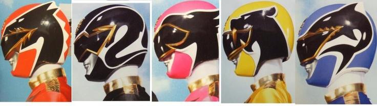 Power Rangers Megaforce-helmet designs